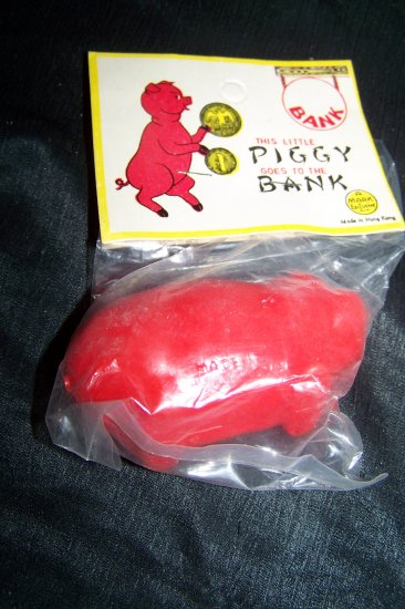 Vintage 1960s This Little Piggy Goes to the Bank Plastic Toy Mint in Bag