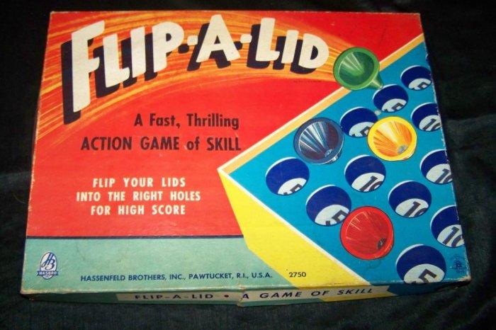 Vintage FLIP-A-LID Board Game Hasbro Hassenfield Bros
