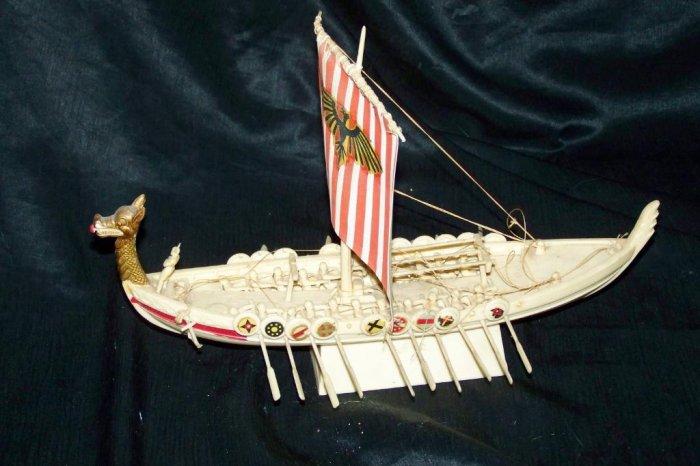 Vintage 1960s Plastic VIKING SHIP Model Toy Aurora?