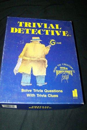 Vintage 1985 Trivial Detective Quiz Board Game Hansen Complete
