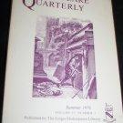 Shakespeare Quarterly Scholarly Journal Folger Library vol 27 #3 Summer 1976