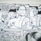 Original STAR TREK DEEP SPACE 9 Leonard Kirk Malibu Comic Book Art