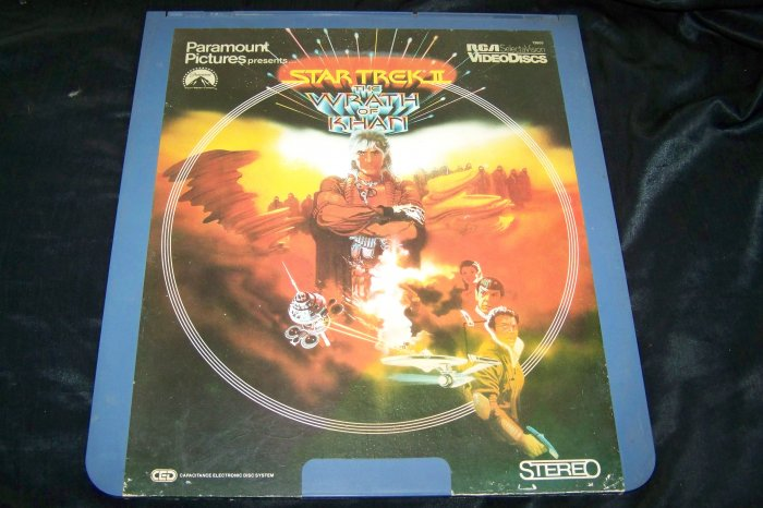 Vintage Star Trek The Wrath of Khan CED Videodisc Video Disc Movie