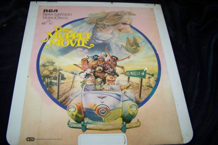 Vintage The Muppet Movie CED Videodisc Video Disc Movie