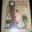 Antique Vintage TICK-TOCK All Around the Clock #814 Linenette Samuel Gabriel Book
