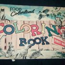 Vintage Food Colorland Coloring Book First National Stores Premium New England Advertising Booklet