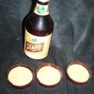 Vintage SCHLITZ Beer Ad Premium Plastic Bottle Coaster Lot