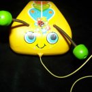 Vintage 1970s BUMBLEBEE BEE Fisher Price Plastic Pull Toy 628