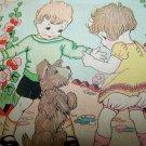 Antique Vintage 1920s-30s Children Puppy Dog Birthday Card