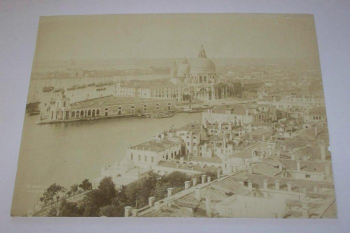 Antique Cabinet Photo Venice Italy from the Campanile