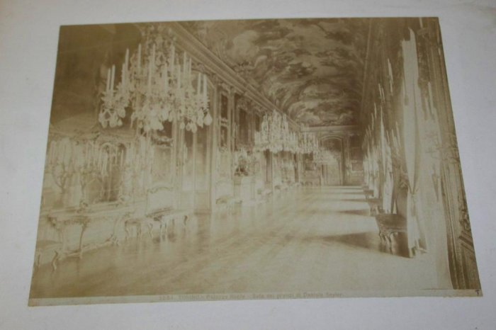 Antique Cabinet Photo Royal Palace Reale in Turin Italy