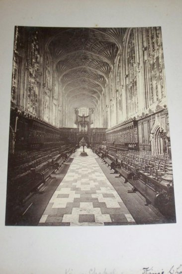 Antique Cabinet Photo King's Chapel Cambridge England