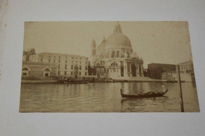 Antique Cabinet Photo Church Gondala Grand Canal Venice