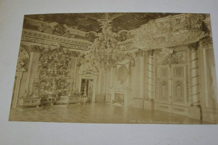 Antique Cabinet Photo Room Royal Palace Berlin Prussia
