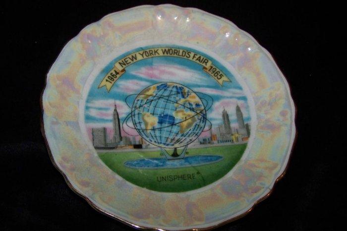 Vintage 1964-65 New York World's Fair Plate Saucer Souvenir
