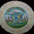Vintage 1964-65 New York World's Fair Plate Saucer Souvenir