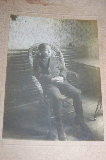 Antique Cabinet Photo American Wicker Chair Little Boy
