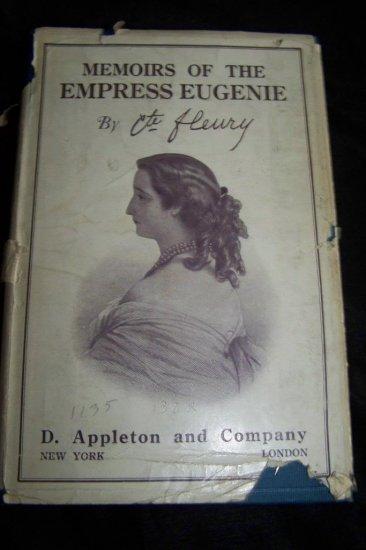 Vintage 1920 Memoirs of the Empress v1 Book by Eugenie Comte Fleury HC/DJ