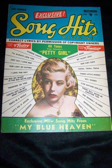 Vintage Song Hits Magazine Gloria De Haven Dec 1950
