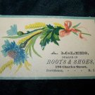 Antique Boots and Shoes Victorian Chromolithograph Calling Business Card