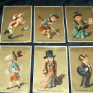 Antique 1881 Gold Boy: Jockey, Soldier, Gentleman Chromolithograph Victorian Tradecard Lot 6