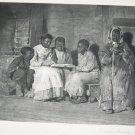 Antique Winslow Homer Sunday Morning Old Virigina Photogravure Art Print