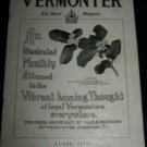 Antique THE VERMONTER State Magazine April 1909 Vermont VT