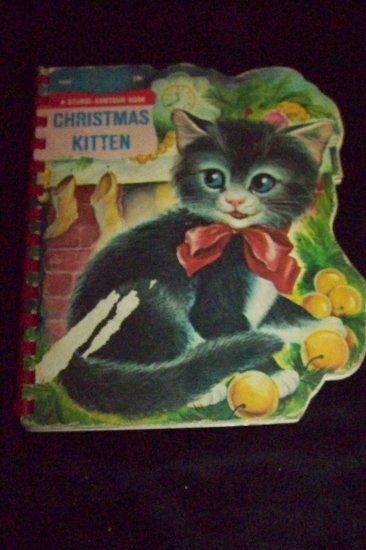 Vintage 1960s CHRISTMAS KITTEN Sturdi-Countour Book