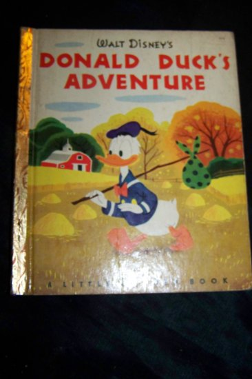 "Vintage 1950 Walt Disney's Donald Duck's Adventure 1st Ed ""A"" Little Golden Book"