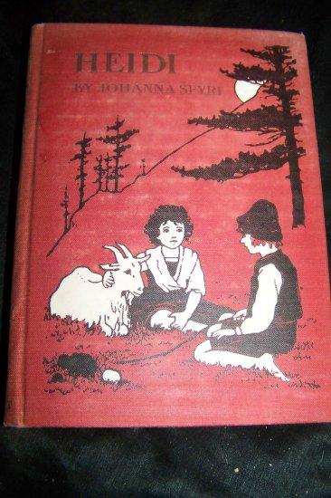 Vintage 1927 HEIDI Johanna Spyri~Maria L Kirk Illustrated Book