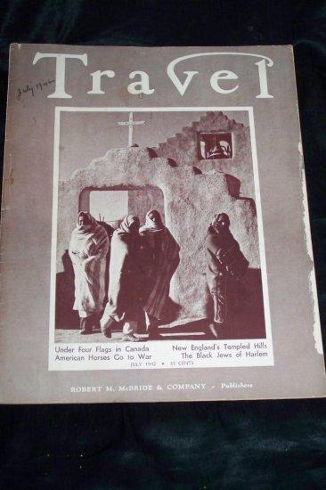 Vintage TRAVEL Magazine July 1942 New England Churches