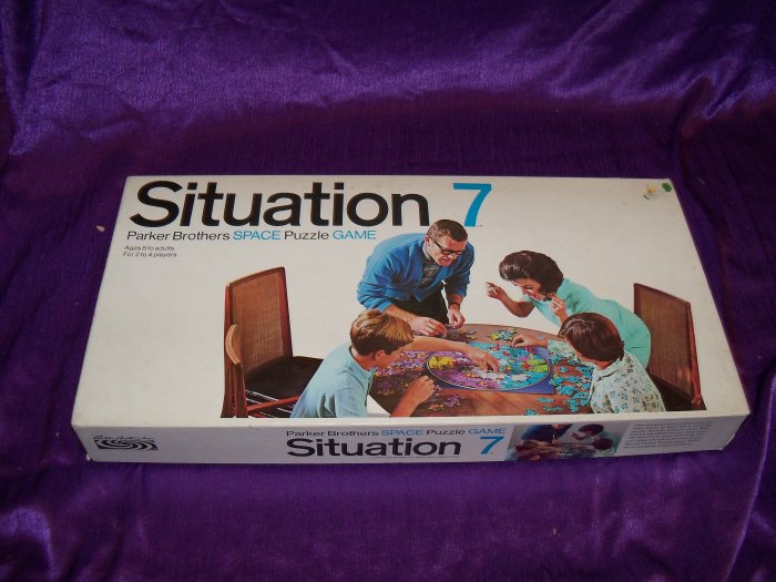 Vintage 1969 SITUATION 7 Parker Brothers Space Puzzle Game