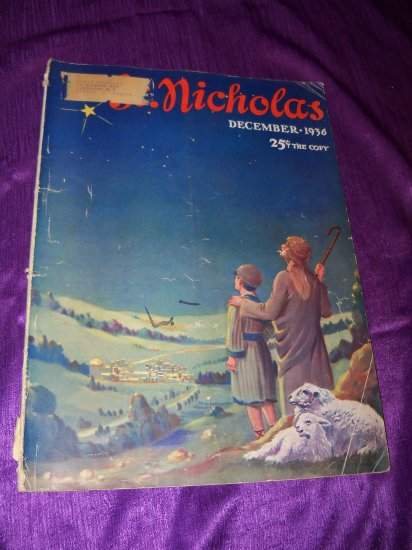Vintage St Nicholas Children's Magazine of Youth December 1936