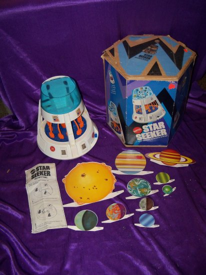 Vintage 1960s Major Matt Mason STAR SEEKER With Memory guidance System Space Ship Toy in Box