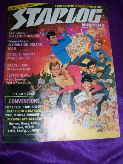 Vintage STARLOG Magazine January 1977 #3 Star Trek, Space 1999, Six Million Dollar Man
