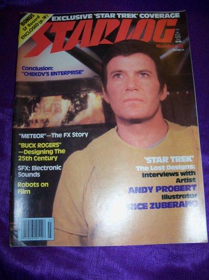 Vintage STARLOG Magazine March 1980 Star Trek Design, Meteor FX, Buck Rogers, Salvage 1