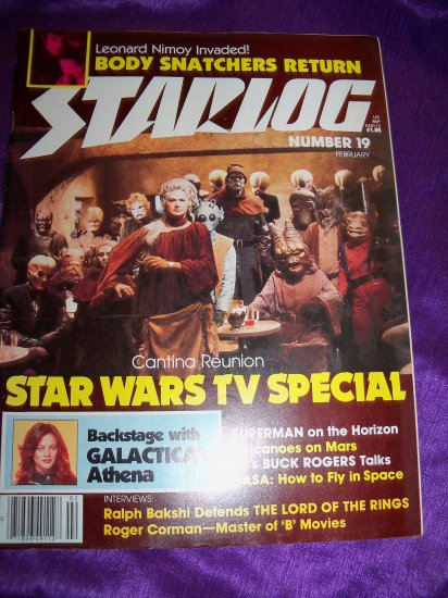 Vintage STARLOG Magazine February 1979 #19 Star Wars TV, Ralph Bakshi Lord of the Rings, Brian Froud