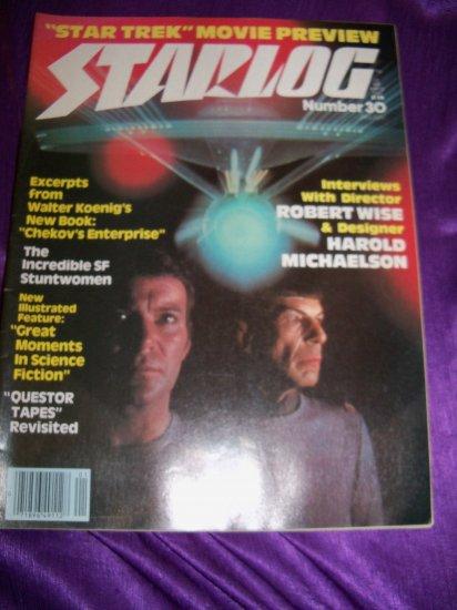 Vintage STARLOG Magazine January 1980 #30 Star Trek, The Questor Tapes, Stuntwomen
