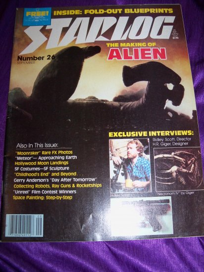 Vintage STARLOG Magazine September 1979 #26 Making of ALIEN Ridley Scot, H.R. Giger