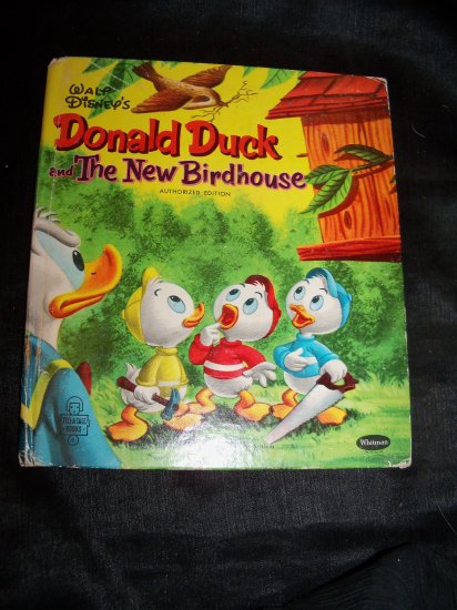 Vintage 1956 Walt Disney's Donald Duck and the New Birdhouse HC Book