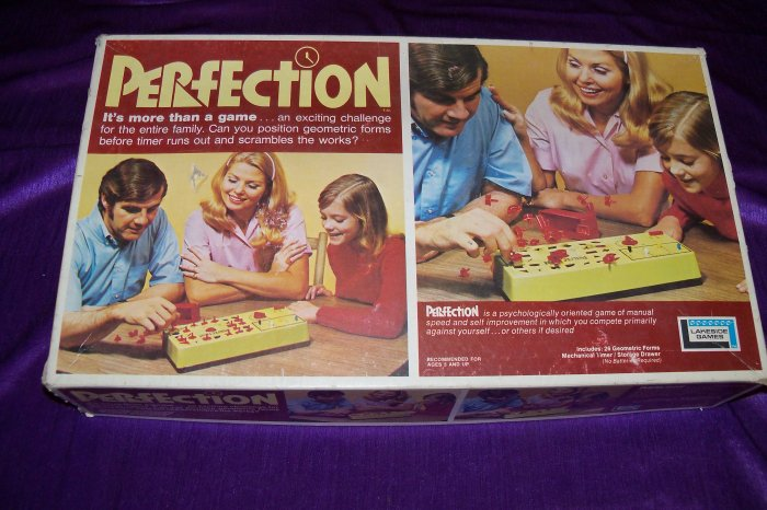 Vintage 1974 PERFECTION Lakeside Action Skill Board Game COMPLETE