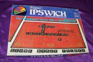 Vintage 1983 Scrabble IPSWICH Cross Word Board Game Black Wooden Tiles Selchow & Righter