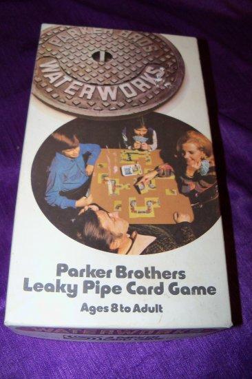 Vintage 1972 WATERWORKS Parker Brothers Leaky Pipe Card Game