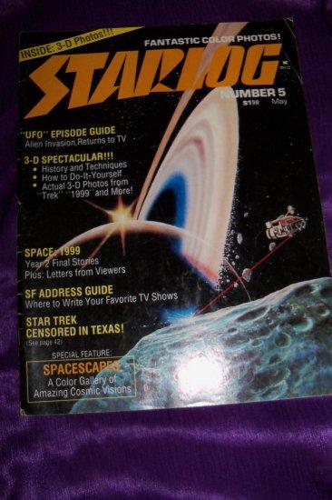 Vintage STARLOG Magazine December #5 1977 3-D Movie Spectacular, Don Dixon, UFO, Space 1999