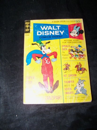 Vintage WALT DISNEY COMICS DIGEST Super Goof #25 Oct 1970
