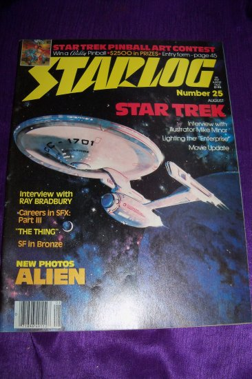 Vintage STARLOG Magazine August 1979 #25, Ray Bradbury, Alien, Star Trek