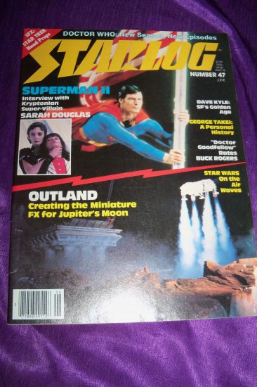 Vintage STARLOG Magazine June 1981 #47 Superman II, Hitch Hiker's Guide to the Galaxy