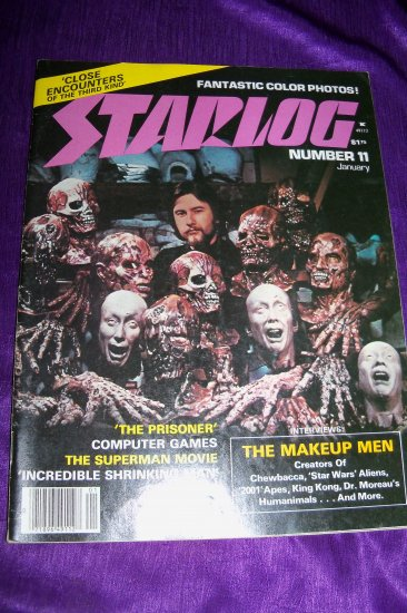 Vintage STARLOG Magazine January 1978 #11 Special Effects Makeup Men, The Prisoner