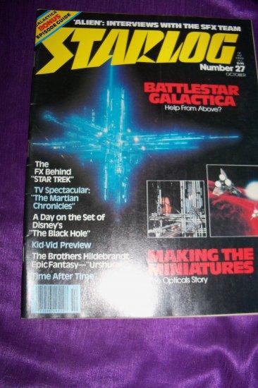 Vintage STARLOG Magazine October #27 1979 Battlestar Galactica, Black Hole