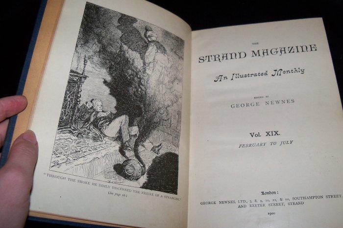 Antique The Strand Magazine Vol. XIX: February to July, 1900 Bound Book Arthur Conan Doyle